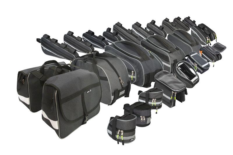 Велосумки COURSE: на руль, на раму, под раму, под седло, на багажник