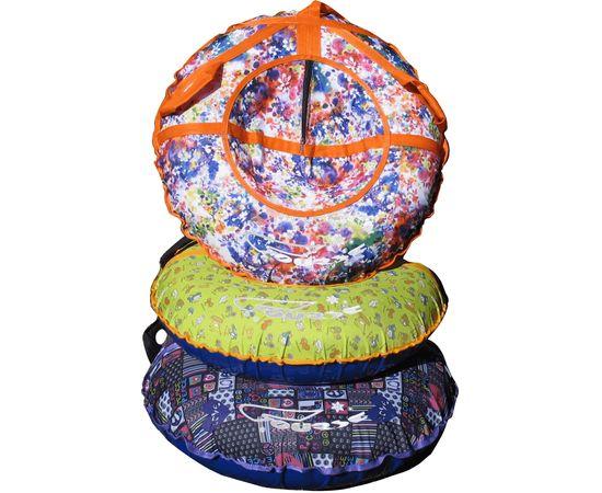 Надувные санки-ватрушки с рисунком диаметром 90 см (комплект А - с камерой)