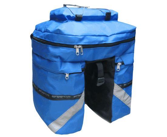 Велорюкзак на багажник (велоштаны) 30 литров, синий цвет