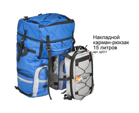 Велорюкзак на багажник (велоштаны) 65-80+ литров с накладным рюкзаком 15 литров