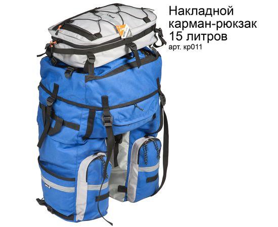 Велорюкзак на багажник (велоштаны) 80-100+ литров с накладнвм карманом-рюкзаком 15 литров