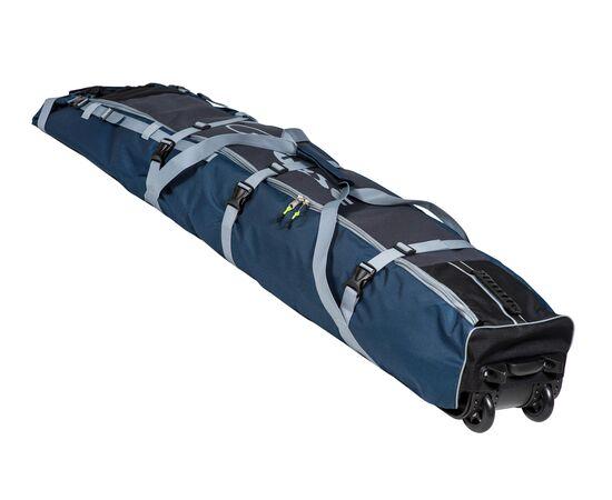 Чехол Course для горных лыж и сноубордов на колесах 180 см, цвет 2-х тонка: синий и серый