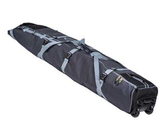 Чехол Course для горных лыж и сноубордов на колесах 180 см, цвет 2-х тонка: серый и черный