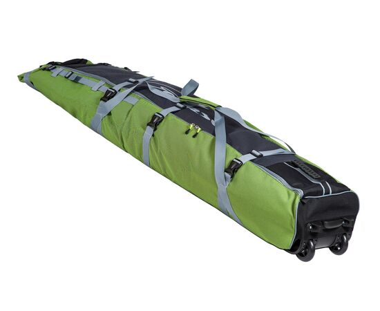 Чехол Course для горных лыж и сноубордов на колесах 180 см, цвет 2-х тонка: желтый и серый