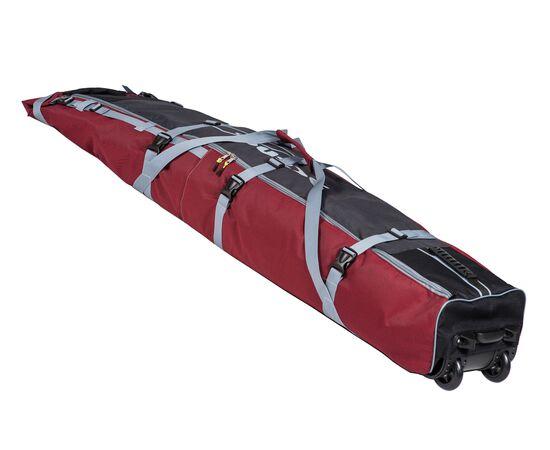 Чехол Course для горных лыж и сноубордов на колесах 180 см, цвет 2-х тонка: красный и серый