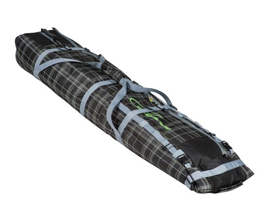 Чехол Course для горных лыж и сноубордов на колесах 180 см, цвет black check