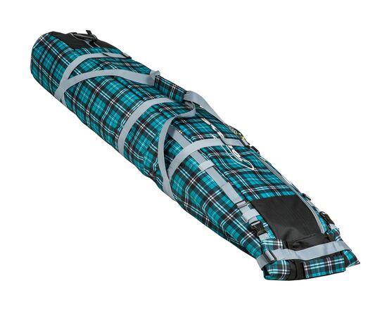 Чехол Course для горных лыж и сноубордов на колесах 180 см, цвет green check