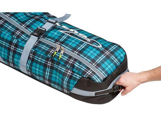 Чехол на колесах для сноуборда «Фрост» 165 см, вид на ручки для захвата и переноски