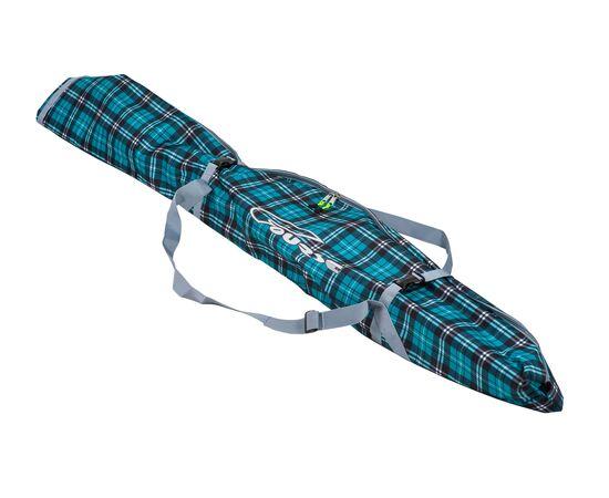 Чехол «Спектр» для беговых и горных лыж 120-150 см, цвет Green check