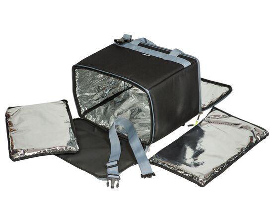 Термосумка17,5 л (35х20х25 см) COURSE для еды, с верхним входом, черный цвет