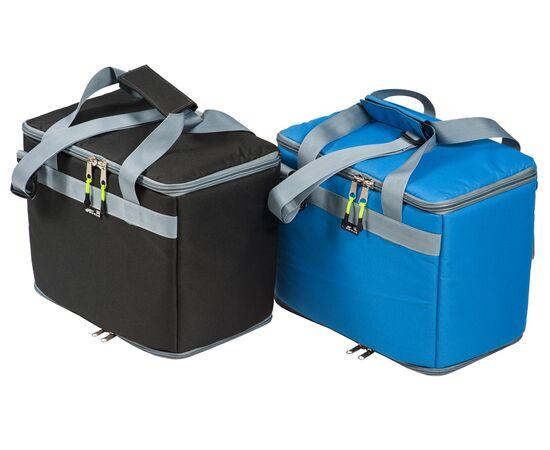 Термосумка17,5 л (35х20х25 см) COURSE для еды, с верхним входом, черный и синий цвет