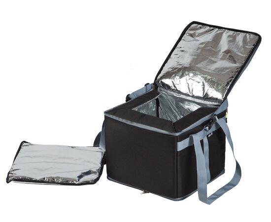 Термосумка 30 л (35х35х25 см) COURSE для еды, с верхним входом, черный цвет