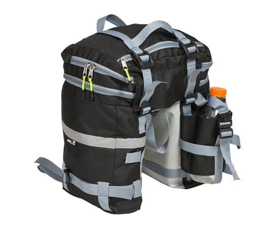 Велорюкзак на багажник (велоштаны) 22-30 литров - вид сзади