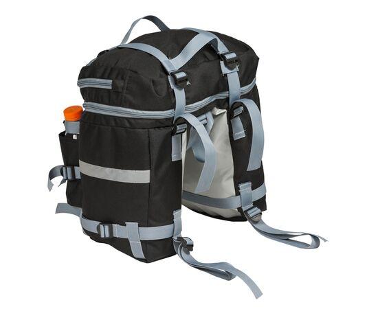 Велорюкзак на багажник (велоштаны) 22-30 литров - вид спереди