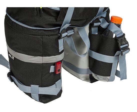 Велорюкзак на багажник (велоштаны) 22-30 литров - петля для крепления заднего фонаря и карман для бутылки