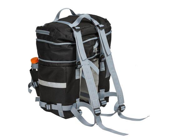 Велорюкзак на багажник (велоштаны) 22-30 литров с рюкзачными лямками