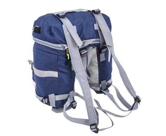 Велорюкзак на багажник (велоштаны) 22-30 литров, с лямками, цвет синий