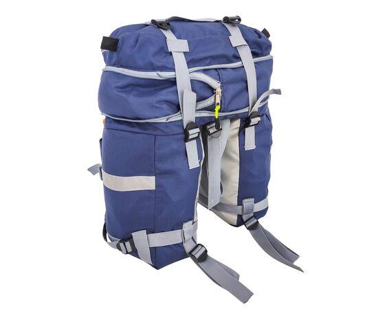 Велорюкзак на багажник (велоштаны) 22-30 литров, в расширенном виде, цвет синий