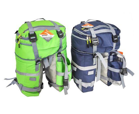 Велорюкзак на багажник (велоштаны) 22-30 литров,  зеленый и синий