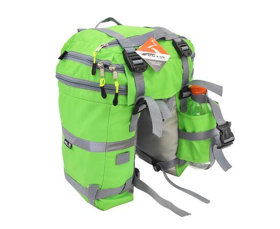 Велорюкзак на багажник (велоштаны) 22-30 литров, цвет зеленый - вид сзади