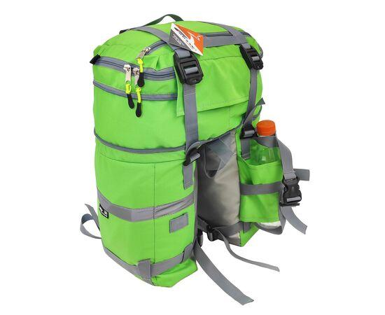 Велорюкзак на багажник (велоштаны) 22-30 литров, в расширенном виде, цвет зеленый