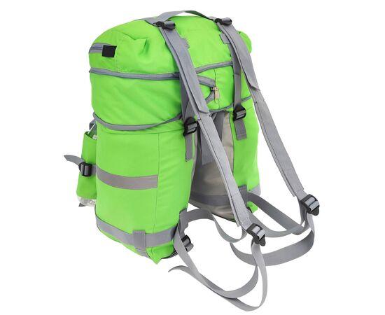 Велорюкзак на багажник (велоштаны) 22-30 литров, с лямками, цвет зеленый