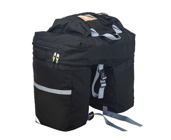 Велорюкзак на багажник (велоштаны) 30-50 литров, черный цвет