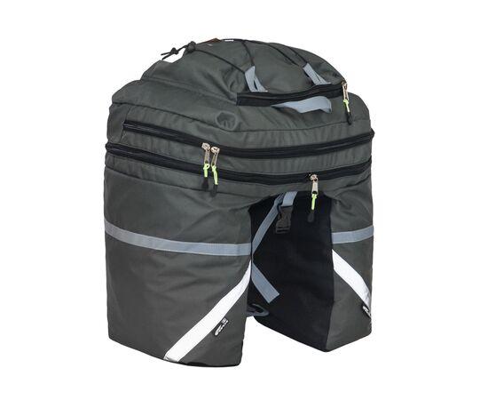 Велорюкзак на багажник (велоштаны) 30-50 литров, серый цвет