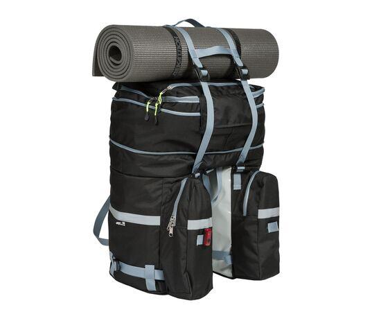 Велорюкзак на багажник (велоштаны) 35-50 литров, с ковриком сверху (с увеличением объема до 50 литров)