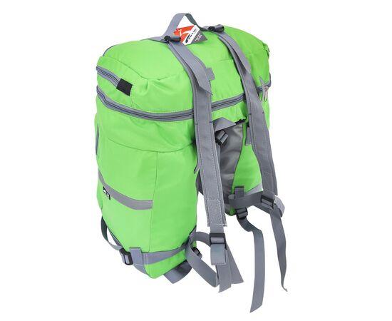 Велорюкзак на багажник (велоштаны) 35-50 литров, с рюкзачными лямками (зеленый цвет)