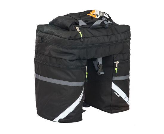 Велорюкзак на багажник (велоштаны) 30 литров (черный цвет)