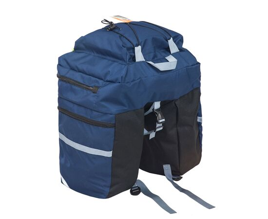 Велорюкзак на багажник (велоштаны) 30 литров (синий цвет)