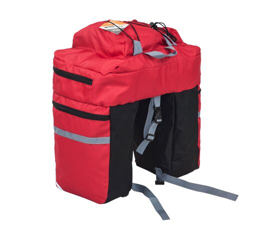 Велорюкзак на багажник (велоштаны) 30 литров (красный цвет)