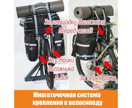 Система крепления велорюкзака на багажник (велоштанов) к велосипеду