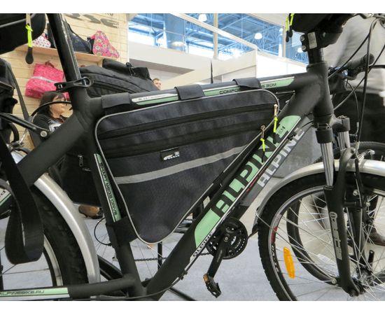Велосумка COURSE «Мастер» под раму большая на велосипеде