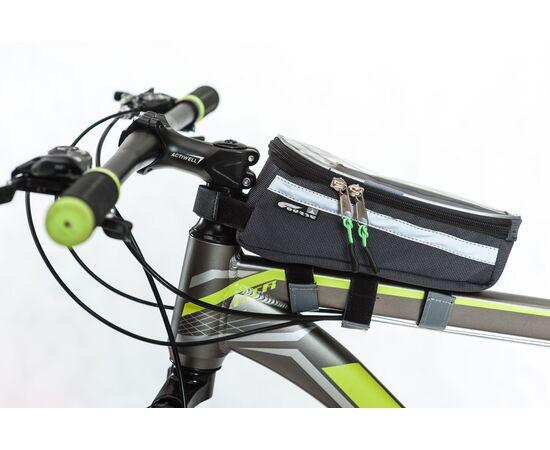 Велосумка «Мастер» для смартфона на раму (увеличенная), на велосипеде