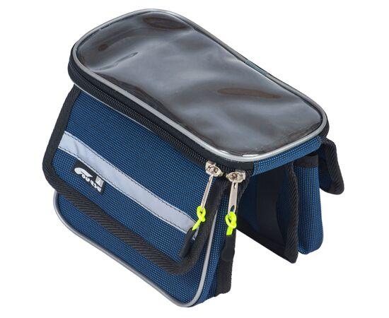 Велосумка «ПиФорм» на раму с чехлом для смартфона, синий цвет