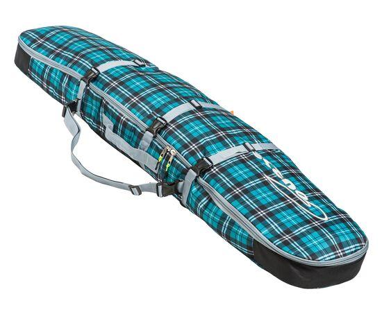 Чехол-рюкзак для сноуборда «Фьюжн» 145 см, общий вид, цвет Green check