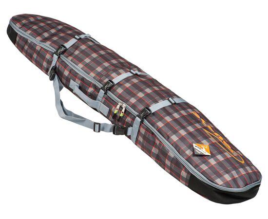Чехол-рюкзак для сноуборда «Фьюжн» 145 см, общий вид, цвет Orange check