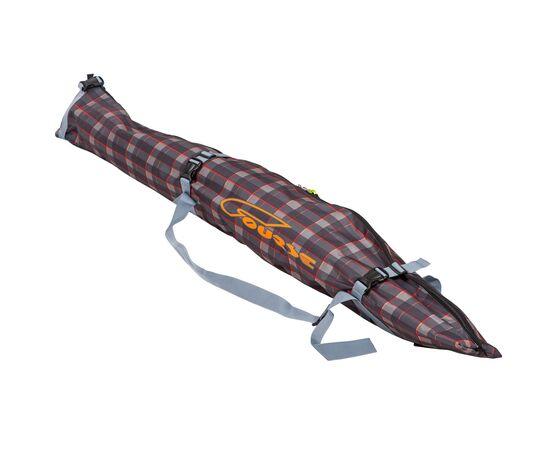 Чехол «Спектр» для беговых и горных лыж 150-180 см, цвет  Orange check