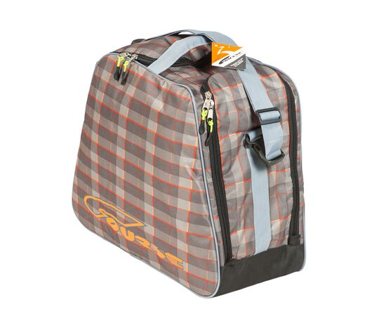 Сумка «Комфи» для 1 пары горнолыжных ботинок и шлема, общий вид, цвет Orange check