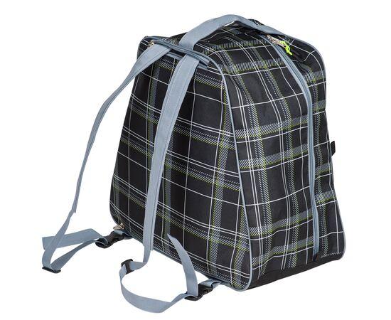 Сумка-рюкзак для 1 пары горнолыжных ботинок, общий вид, цвет Black check