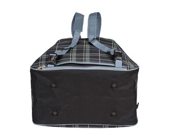 Сумка-рюкзак для 1 пары горнолыжных ботинок, вид снизу, цвет Black check