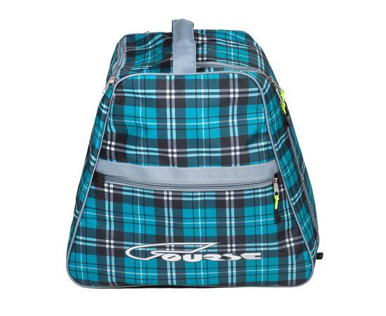 Сумка-рюкзак для 1 пары горнолыжных ботинок, вид сбоку, цвет Green check