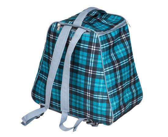 Сумка-рюкзак для 1 пары горнолыжных ботинок, общий вид, цвет Green check