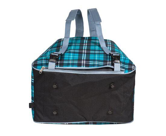 Сумка-рюкзак для 1 пары горнолыжных ботинок, вид снизу, цвет Green check