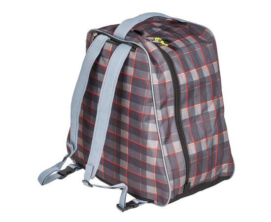 Сумка-рюкзак для 1 пары горнолыжных ботинок, общий вид, цвет Orange check