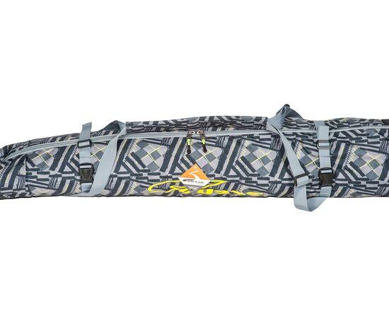 Чехол 3-х слойный «Токен» для горных лыж 130-160 см, цвет Black stroke