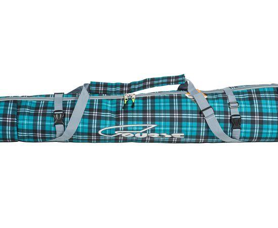 Чехол 3-х слойный «Токен» для горных лыж 130-160 см, цвет Green check