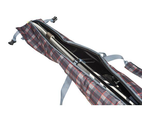 Чехол 3-х слойный «Токен» для горных лыж 130-160 см, цвет Orange check